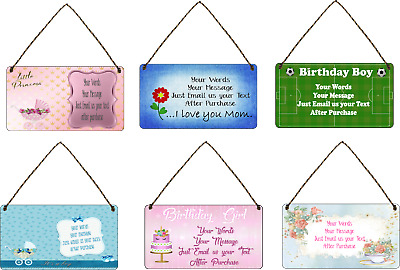 £7.49 • Buy  Personalised Gift Plaque Garden, Birthday SIGN  Gift QUOTE  Shed Retro Bar Sign
