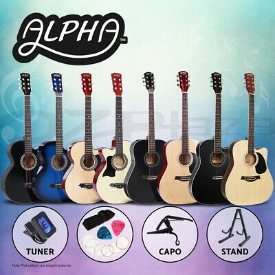 AU67.90 • Buy Alpha 38/41 Inch Acoustic Guitar Classical Wooden Strings Capo Tuner Left Handed