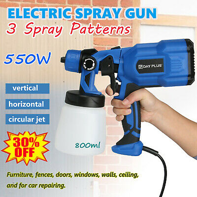 £39.39 • Buy 550W Electric HVLP Paint Sprayer Spray Gun For Fence Wall Furniture Car Paint UK