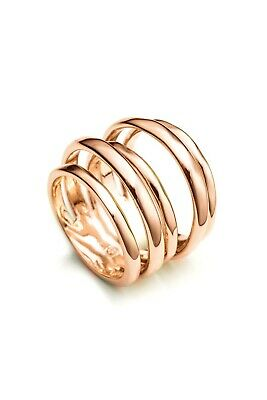 $79 • Buy Alexis Bittar Liquid Layered Ring Rose Gold Sz ~6 3/4 New Multiple Bands In-one