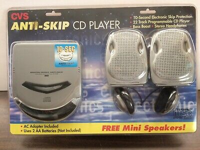 NEW OLD STOCK Vintage Portable CD Player W/ Ear Phones And Mini Speakers - C679 • 39.95$