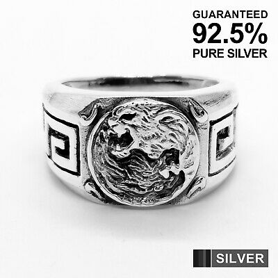 925 Sterling Silver Black Panther Yin & Yang Signet Ring ✔️Quality✔️Solid • 39.99£