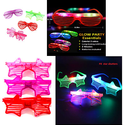 Led Shutter Shades, Flashing Glasses, Rave, Uv Party, Fun, Club Light Up Lot • 3.39£
