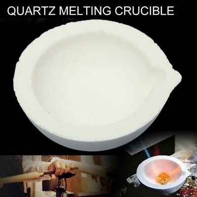 Quartz Ceramic Melting Dish Jewellery Crucible Cup Furnace Casting Refining Gold • 3.85£