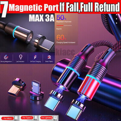 AU9.99 • Buy CAFELE 3A LED Magnetic Lightning Cable/Micro/Type C To USB Charging Charger Cord