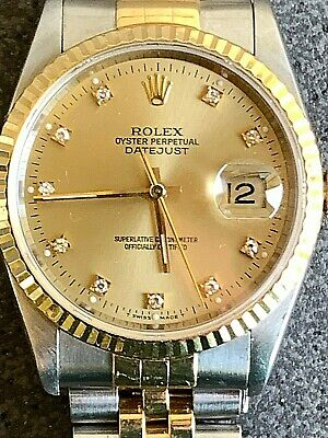 AU7500 • Buy Rolex Champagne Diamond 18K & Steel Oyster Perpetual Datejust