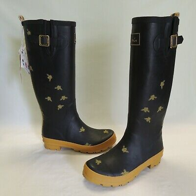 Joules Rain Boots 8 Bees NEW SEE !! • 48.99$