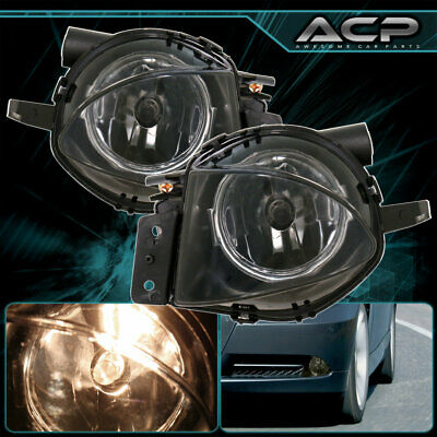 $36.99 • Buy For 06-08 Bmw 3-Series E90 Replacement Front Bumper Driving Smoked Fog Lights