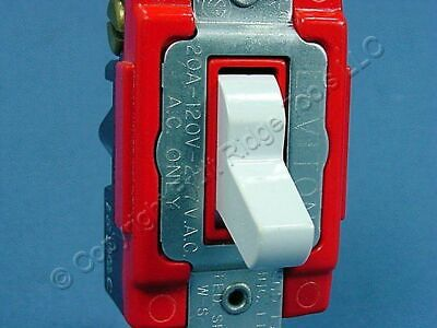 Leviton White INDUSTRIAL 3-Way Toggle Wall Light Switch Control 20A Bulk 1223-2W • 7.22$