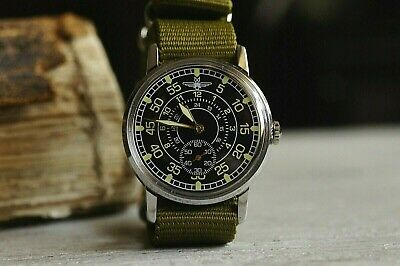 $ CDN82.28 • Buy Men's Watch Laco Pobeda Pilot Mechanical WristWatch Soviet USSR MILITARY ZIM
