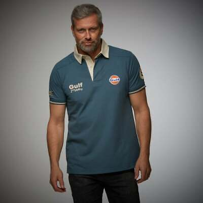 Grandprix Originals Mens The Vintage Gulf  Polo Petrol Blue • 49.50£