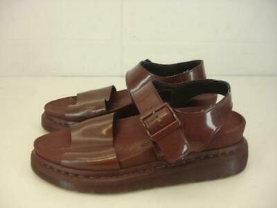 $ CDN66.11 • Buy Dr. Martens Womens Romi Brown Patent Leather Sandals UK 6 US 8 Ankle Strap Shoes