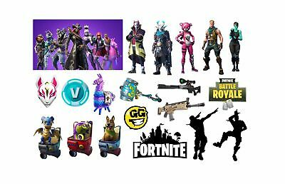 NEW FORTNITE  Temporary Tattoo Sheet Children Kids Birthday Party Bag Filler • 2.49£
