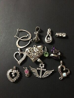 $ CDN76.25 • Buy VINTAGE LOT OF STERLING SILVER JEWELERY All WEARABLE