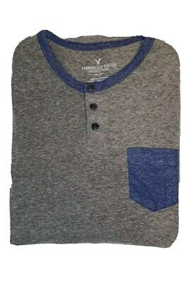 $10 • Buy American Eagle Men's Soft Washed 3/4 Sleeve Baseball Henley Size Small EUC