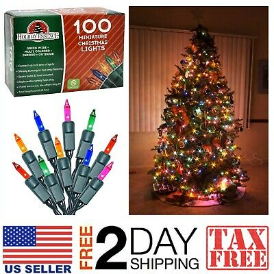 $15.99 • Buy 100 Multi-Color Christmas Lights   Indoor Outdoor Party Tree Decor Fairy Strings
