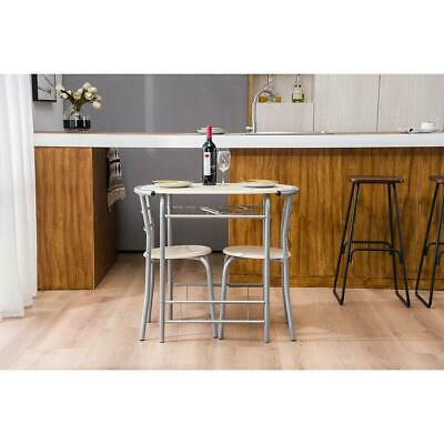 Hot Style 3 Piece Dining Set Metal Top Table And 2 Chair Kitchen Dining Room NEW • 66.59$