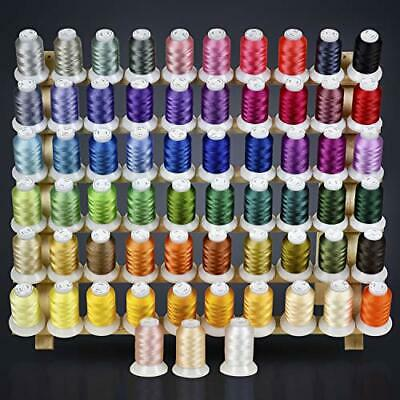 $41.95 • Buy 63 Colors Polyester Embroidery Machine Thread Kit 500M Every Spools