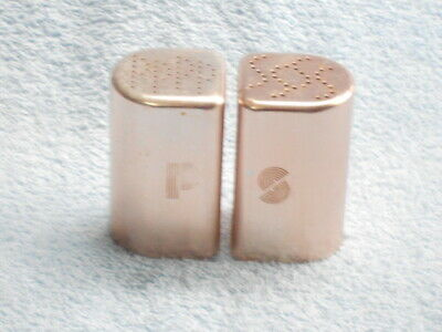 COPPER Aluminum Stove-top Salt And Pepper Shakers, 3 1/4  • 6$