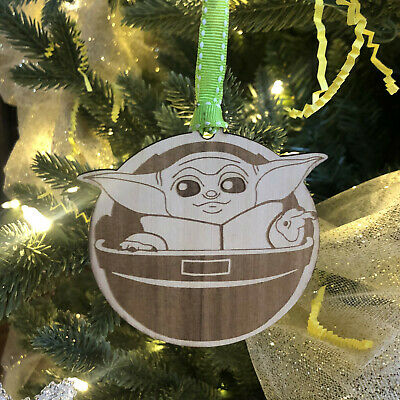 $14.88 • Buy Baby Yoda Wooden Ornament For Christmas