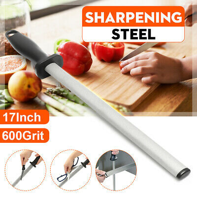 $13.59 • Buy 17'' 600# Grit Diamond Knife Sharpening Steel Rod Sharpener Stick Kitchen Tool