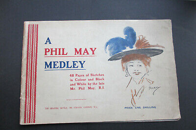 A Phil May Medley, 48 Pages Of Sketches, 1903, May's Advert For Pears' To Back • 20£