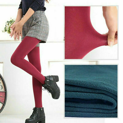 Tights Ladies Thermal UK Thick Fleece Winter Lined Autumn Full Pants Warm Foot • 3.78£
