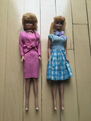 $ CDN330.81 • Buy 1960s HTF Vintage Barbie Dolls, Bubblecut And Ponytail Blonde Case And Clothes