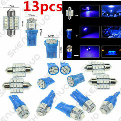 $6.23 • Buy 13x Auto Car Interior LED Lights Dome License Plate Lamp 12V Kit Accessories 8k