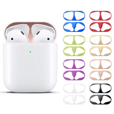 $ CDN4.41 • Buy Metal Dust Guard Sticker For AirPods Case Cover Dust-proof Protective Sticker I2