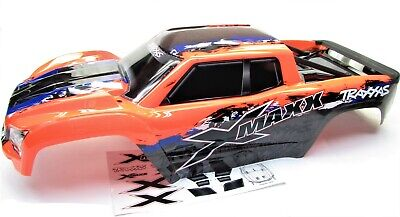 AU171.91 • Buy X-MAXX BODY Cover Shell (ORANGE & BLUE Painted ProGraphics New Traxxas 77086-4