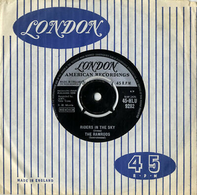 Ramrods Riders In The Sky 7  Vinyl Single Record UK 45-HLU9282 LONDON AMERICAN • 14.95£