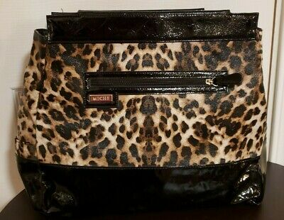 NEW - MICHE - Prima Bag Shell -  Tereasa  - Animal Print Faux Leather - Retired • 9.95$
