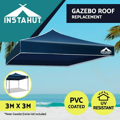 AU45.51 • Buy Instahut Gazebo 3x3 Pop Up  Marquee Replacement Roof Outdoor Wedding Tent Navy