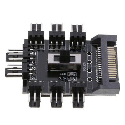 $3.56 • Buy 1 To 8 3Pin PC Cooling Fan Hub SATA Power Supply Splitter Speed Controller