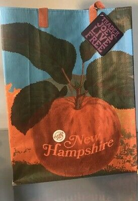 2 Trader Joes Reusable NEW HAMPSHIRE & FLORIDA Grocery Shopping Bags NEW! • 9.99$