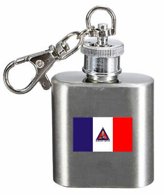 Hip Flask Keyring  Engraved Timoteo City Minas Gerais State Flag • 24.99£
