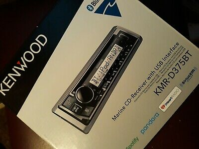 Kenwood Bluetooth Marine Boat KMR-D375BT IPhone IPod Stereo USB Receiver NEW • 99.95$