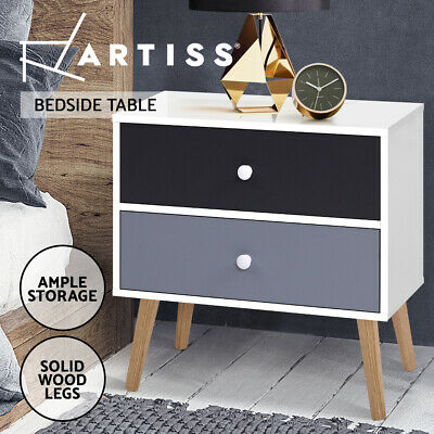 AU59.95 • Buy Artiss Bedside Tables Drawers Side Table Nightstand Lamp Side Storage Cabinet