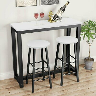 Counter Height Dining Table Set With 2 Bar Stools For Kitchen Home Bar Table Set • 143.98$