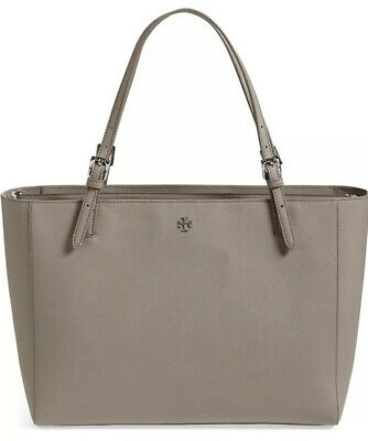 Nwot Tory Burch York Buckle Tote Handbag Bone Carry All French Grey $250 Sld Out • 199.99$