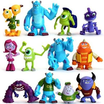 £9.20 • Buy Monsters Inc Sulley Mike Disney Playset 12 Figure Cake Topper Toy Doll Set