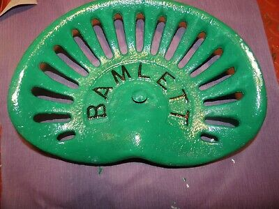 Bamlett  Vintage  Iron Tractor Farm Implement Seat Nameplate Antique • 125£