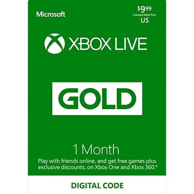 $ CDN15 • Buy Xbox  360/One Live Gold 1 Month Membership  FAST EMAIL DELIVERY Canada Only