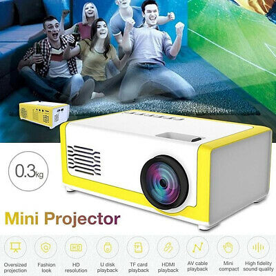 AU65.40 • Buy YG-300 1080P Home Theater Cinema USB AV Mini Portable FHD 3D LED Projector