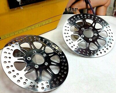 $179.90 • Buy 🔥08-20 Harley Touring Front Brake Rotors Polished Chrome 11.8  Or 11 7/8 STD