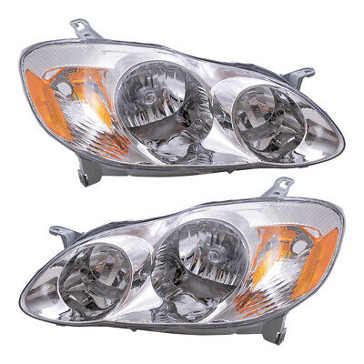 $83.60 • Buy New Pair Set Headlight Headlamp Clear Lens Assembly For 03-04 Toyota Corolla