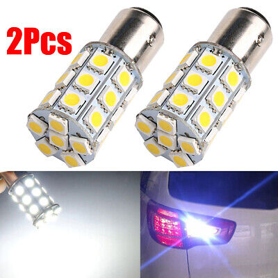 $3.34 • Buy 2X White 1157 5050 27-SMD Turn Signal Stop Tail Brake Car Truck LED Light Bulbs