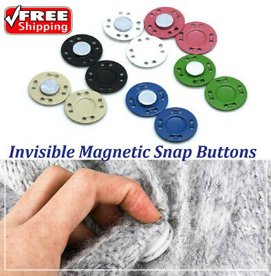 Invisible Magnetic Snap Buttons Fastening Buttons For Garment Accessories DIY • 1.99£