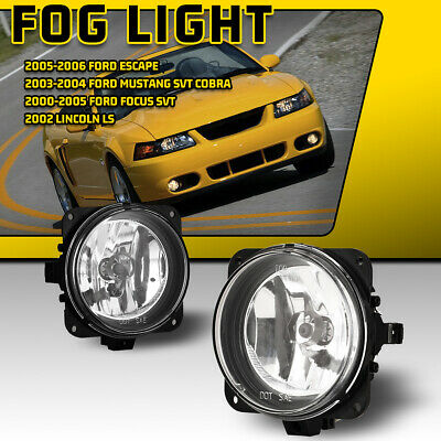 $31.01 • Buy Fog Lights For 02-05 Ford Focus 05-07 Escape 03-04 Mustang Clear Bumper Lamp Set